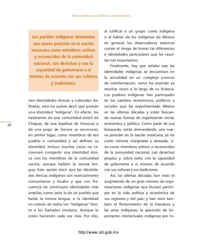 Monografia nacional pueblos indigenas mexico for Que quiere decir contemporaneo