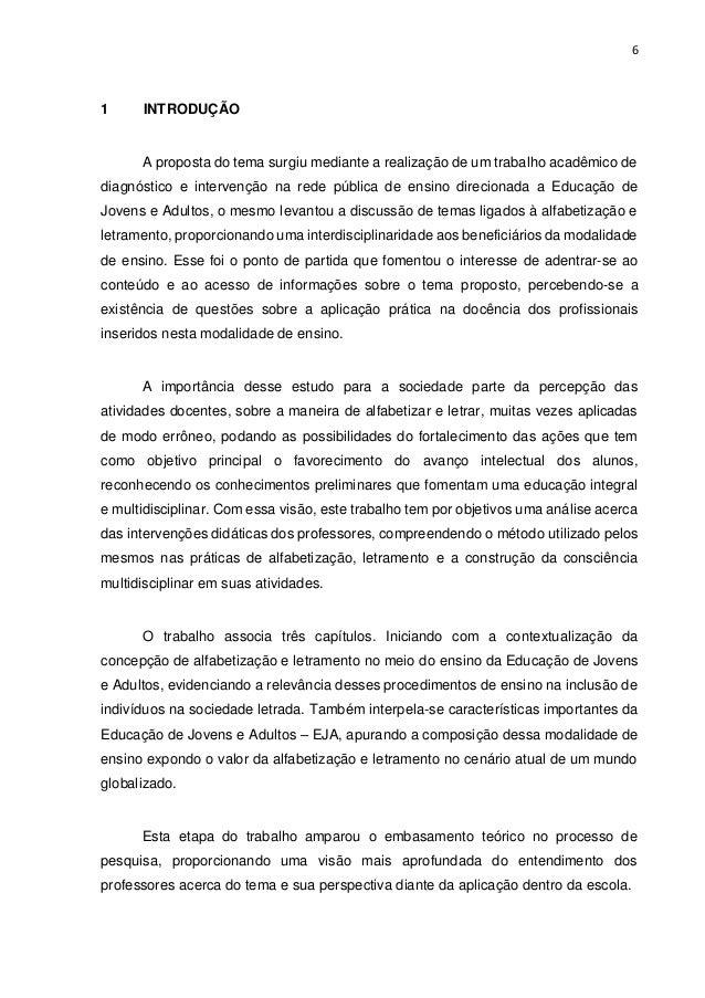 a importÂncia da interdisciplinaridade na proposta pedagÓgica e inter\u2026