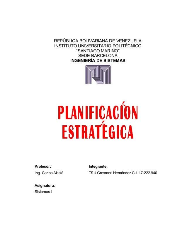 """ó REPÚBLICA BOLIVARIANA DE VENEZUELA INSTITUTO UNIVERSITARIO POLITÉCNICO """"SANTIAGO MARIÑO"""" SEDE BARCELONA INGENIERÍA DE SI..."""