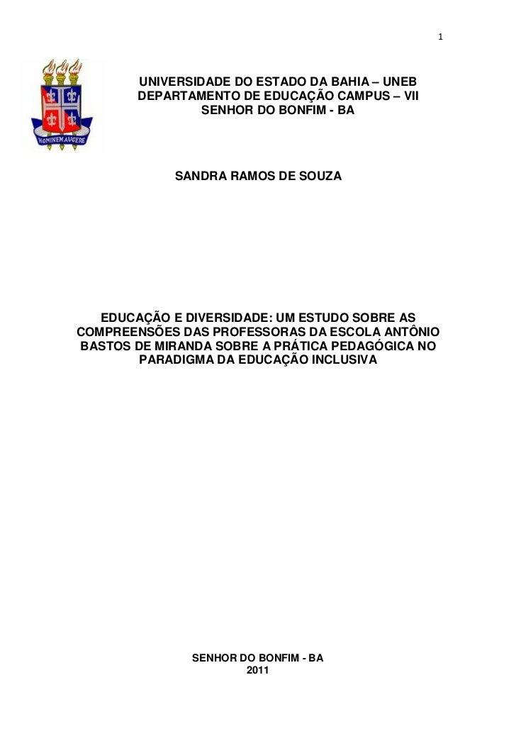 1       UNIVERSIDADE DO ESTADO DA BAHIA – UNEB       DEPARTAMENTO DE EDUCAÇÃO CAMPUS – VII                SENHOR DO BONFIM...