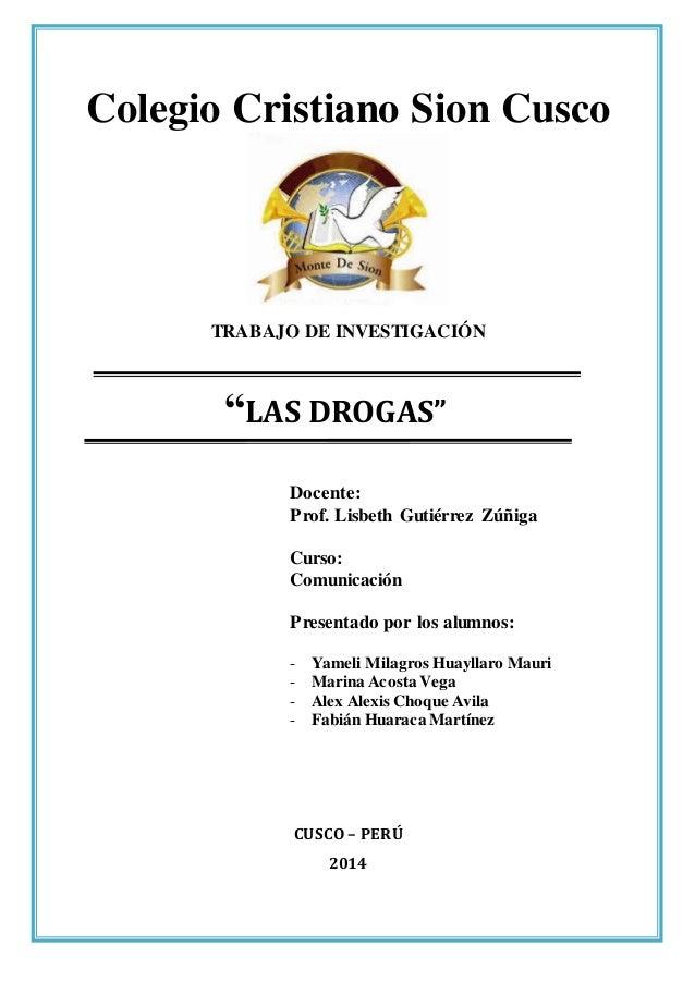 Monografia drogas