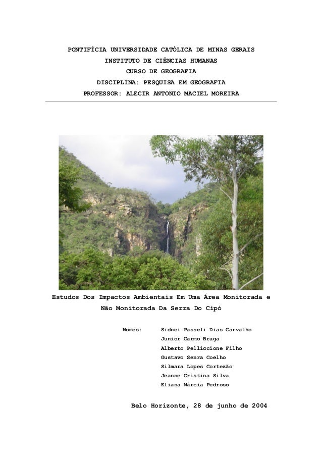 PONTIFÍCIA UNIVERSIDADE CATÓLICA DE MINAS GERAISINSTITUTO DE CIÊNCIAS HUMANASCURSO DE GEOGRAFIADISCIPLINA: PESQUISA EM GEO...