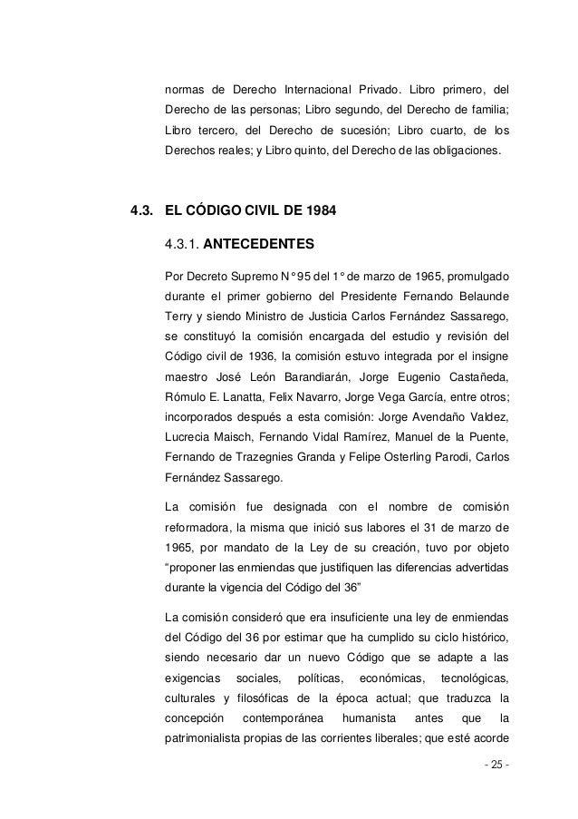Monografia sistema juridico contemporaneo for Libro cuarto del codigo civil