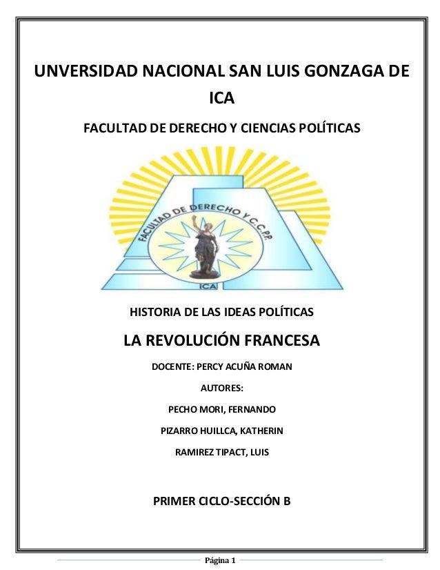 UNVERSIDAD NACIONAL SAN LUIS GONZAGA DE                 ICA     FACULTAD DE DERECHO Y CIENCIAS POLÍTICAS           HISTORI...