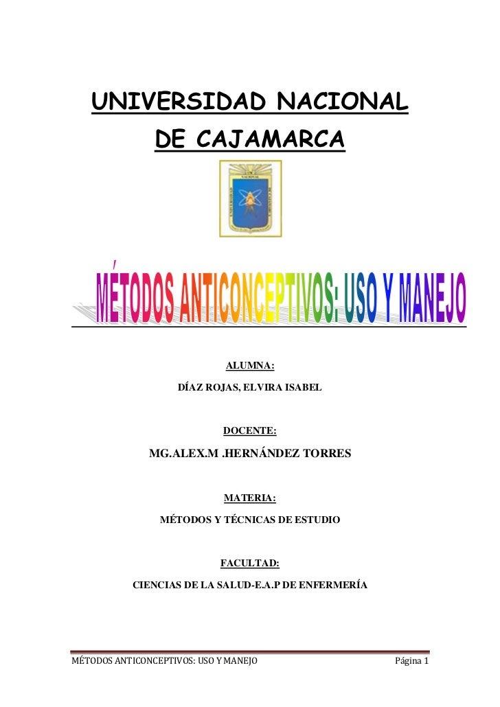 22364701160145UNIVERSIDAD NACIONAL DE CAJAMARCA<br />ALUMNA:<br />DÍAZ ROJAS, ELVIRA ISABEL<br />DOCENTE:<br />MG.ALEX.M ....
