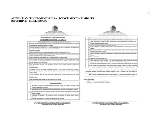Município de Mesquita-RJ e a Implantação do Licenciamento