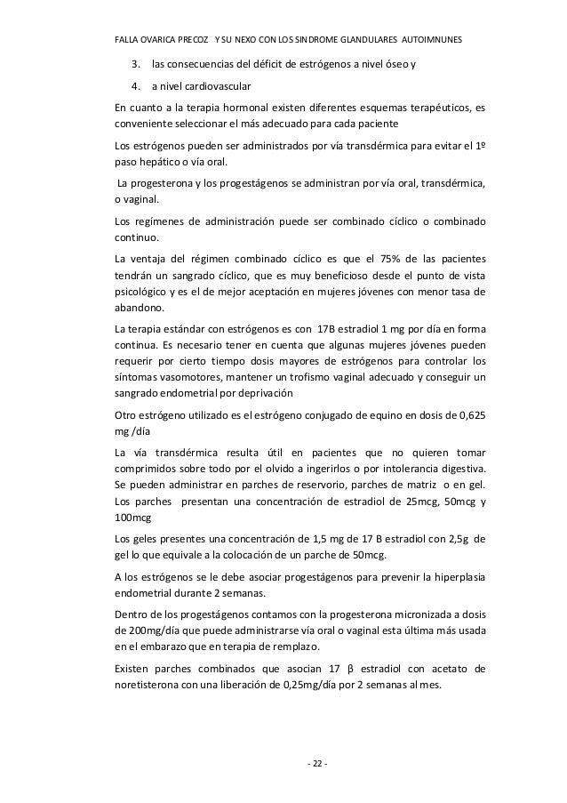 FALLA OVARICA PRECOZ Y SU NEXO CON LOS SINDROME GLANDULARES AUTOIMNUNES   3. las consecuencias del déficit de estrógenos a...