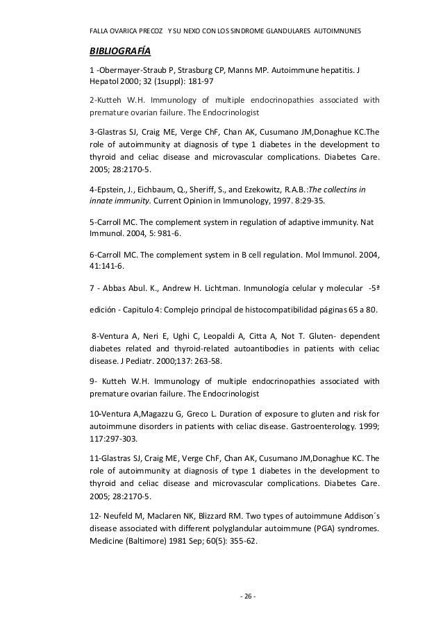 FALLA OVARICA PRECOZ Y SU NEXO CON LOS SINDROME GLANDULARES AUTOIMNUNESBIBLIOGRAFÍA1 -Obermayer-Straub P, Strasburg CP, Ma...