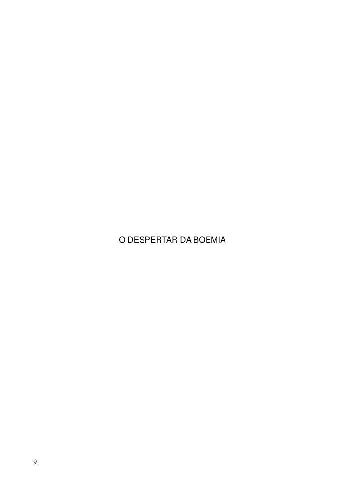 O DESPERTAR DA BOEMIA     9