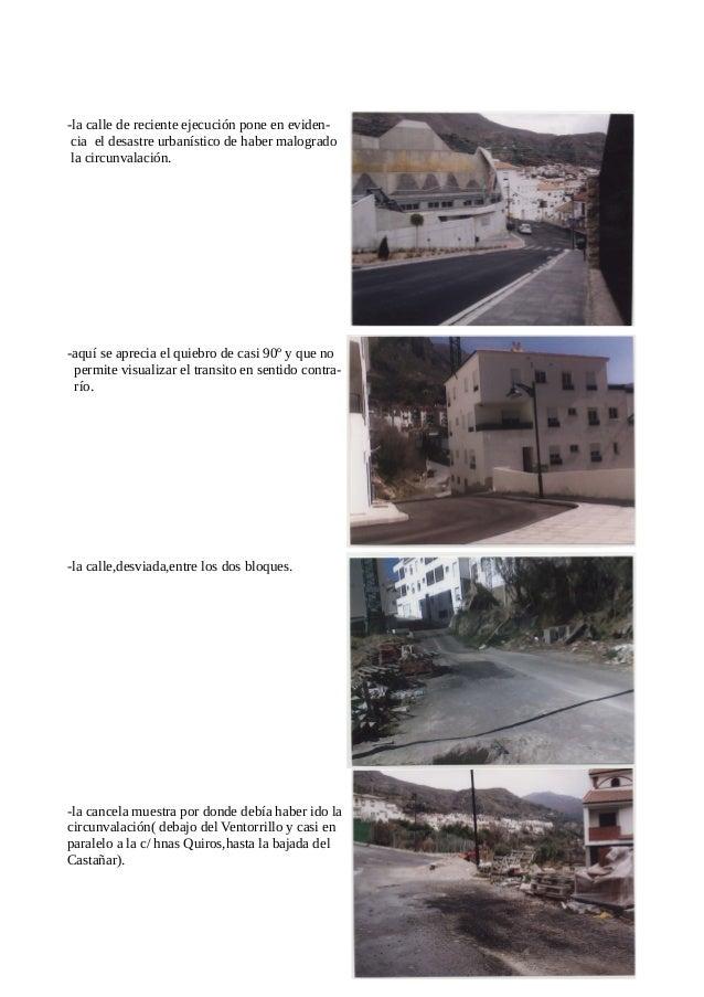 """La Urbanización """" El balcón del Calar"""" en mi segunda crónica ya escribí haciendo constar las deficiencias. – carencia de a..."""