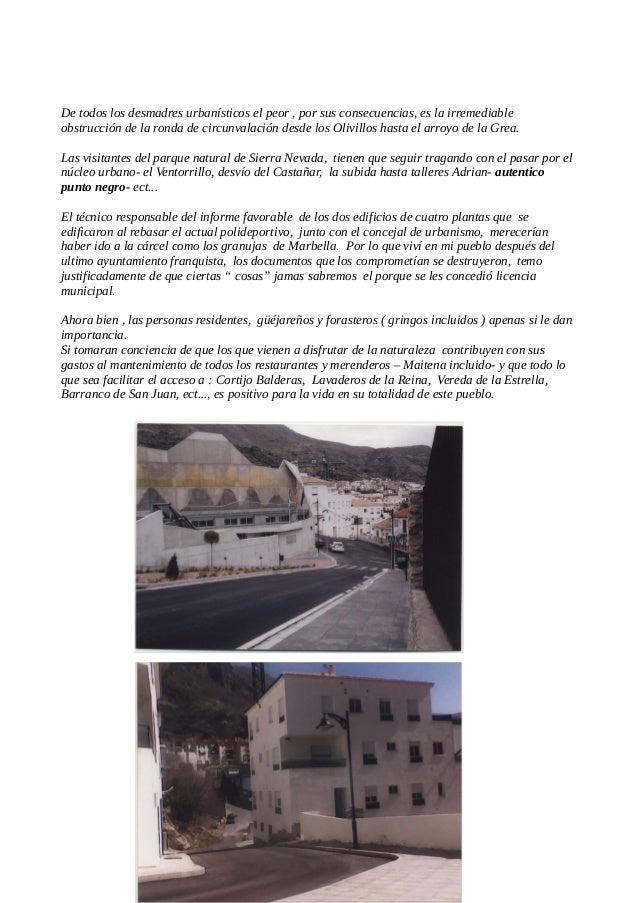 """La subida por la calle Era Moralea desde el cruce del Castañar, hasta la calle Genil, donde """" talleres Adrian"""" Otra vista ..."""