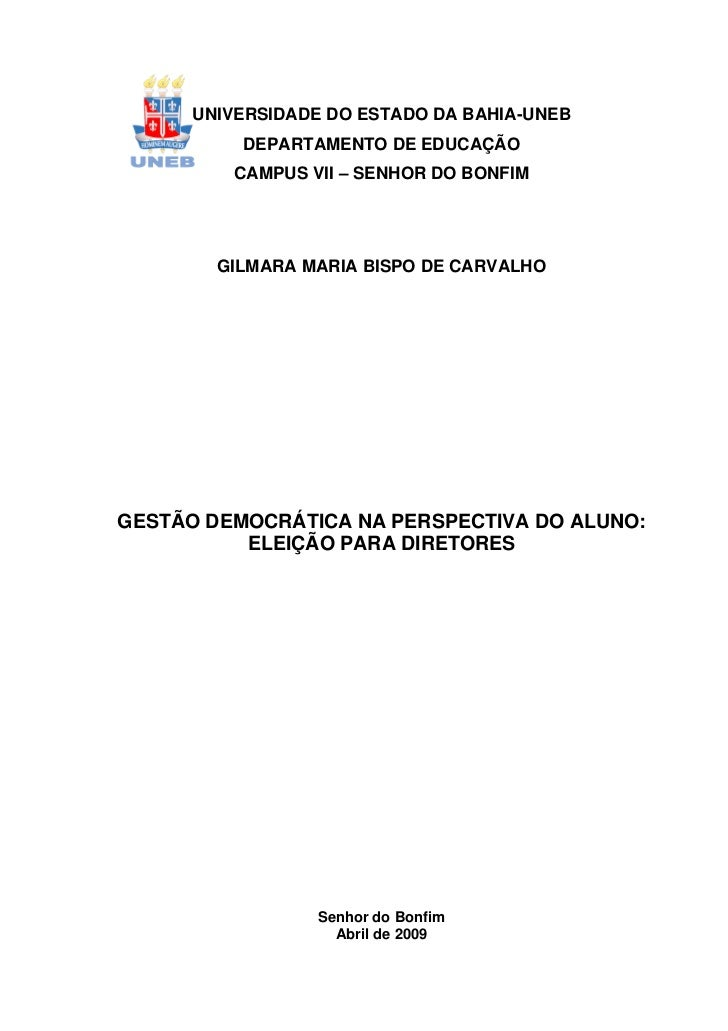 1      UNIVERSIDADE DO ESTADO DA BAHIA-UNEB          DEPARTAMENTO DE EDUCAÇÃO         CAMPUS VII – SENHOR DO BONFIM       ...