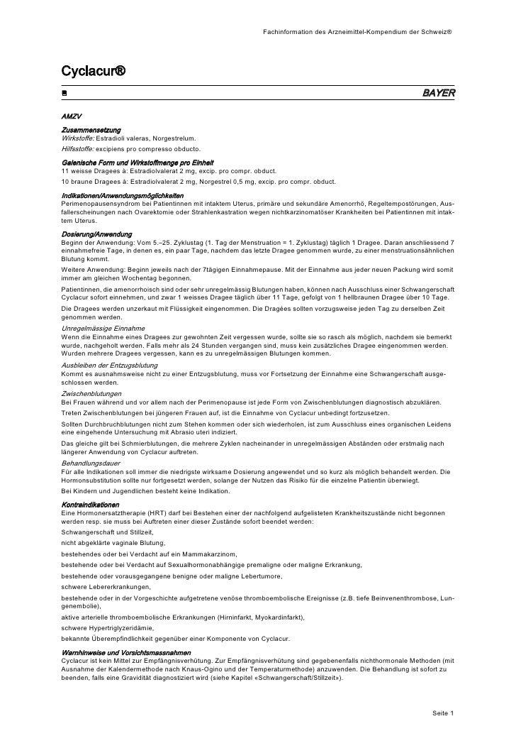 Fachinformation des Arzneimittel-Kompendium der Schweiz®Cyclacur®■                                                        ...