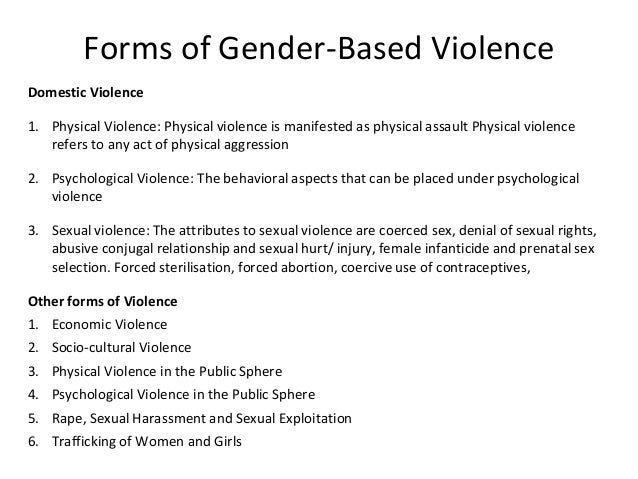 sexual and gender based violence in Loverview iberia's civil conflict exacerbated the situation of sexual and gender-based violence (sgbv), which is extremely prevalent occuring across.