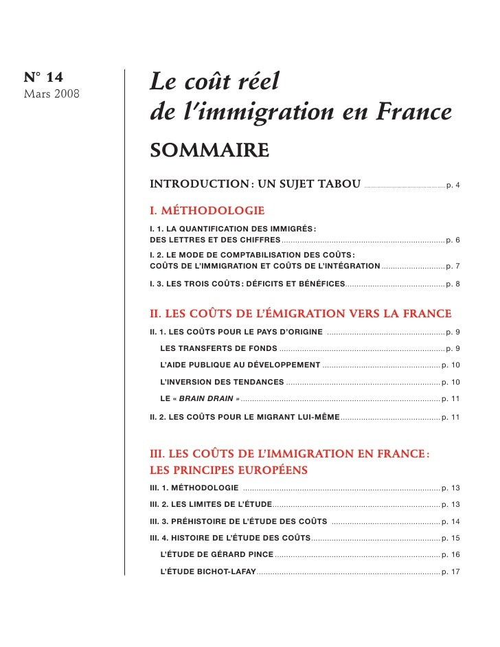Monographie14 le cout reel de limmigration - Office francaise d immigration et d integration ...