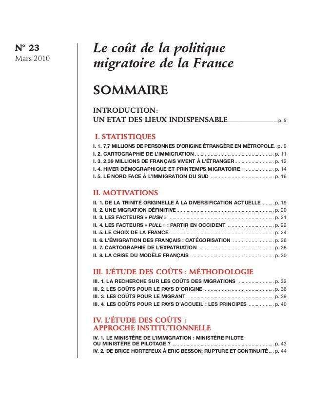 Le coût de la politique migratoire de la France Slide 2