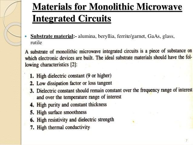 monolithic ic rh slideshare net monolithic microwave integrated circuits mmic monolithic microwave integrated circuits fabrication ppt
