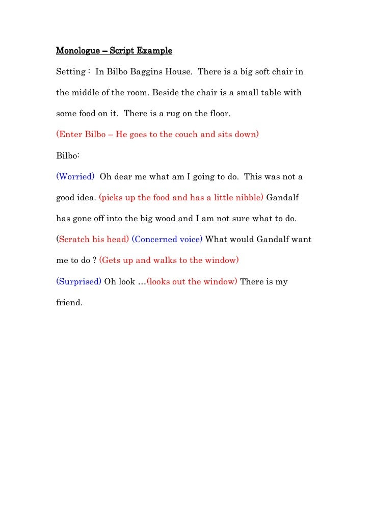 monologue script example