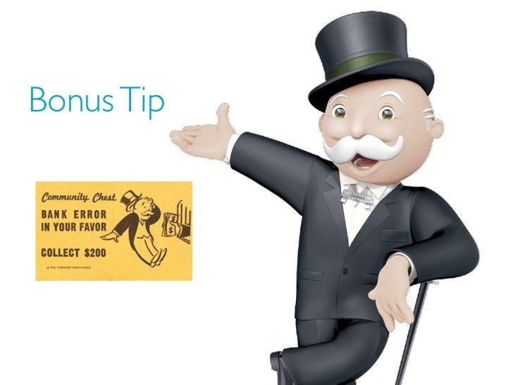 Bonus Tip