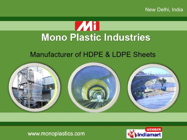 Manufacturer of HDPE & LDPE Sheets