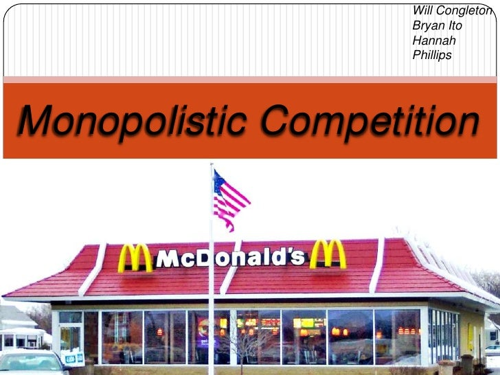 restaurant monopolistic competition