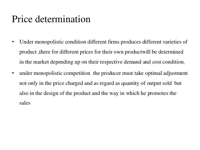 how to write an essay introduction for price determination under  price determination under monopolistic competition imperfect the figure above represents equilibrium of the firm under monopoly