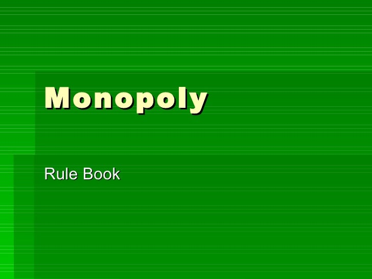 Monopoly Rule Book