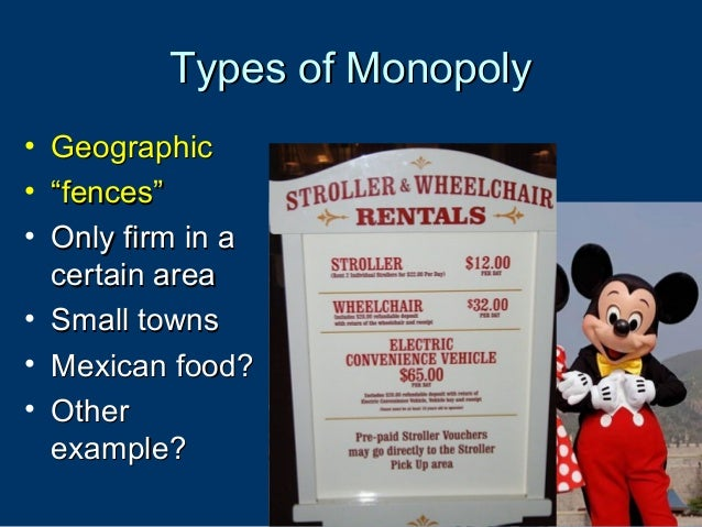 Geographic Monopoly Example
