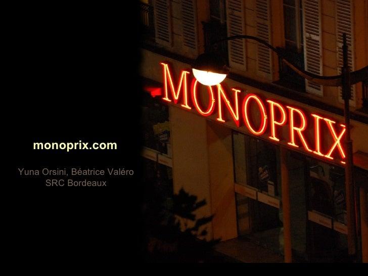 Yuna Orsini, Béatrice Valéro SRC Bordeaux Au programme monoprix.com