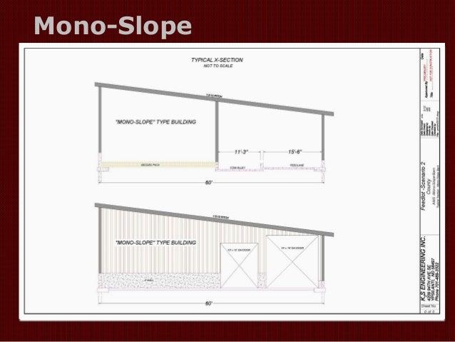 Monoslope And Slatted Floor Barns