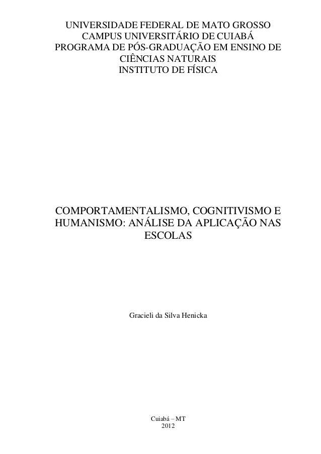 UNIVERSIDADE FEDERAL DE MATO GROSSOCAMPUS UNIVERSITÁRIO DE CUIABÁPROGRAMA DE PÓS-GRADUAÇÃO EM ENSINO DECIÊNCIAS NATURAISIN...