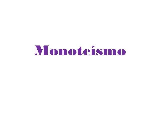 Monoteísmo
