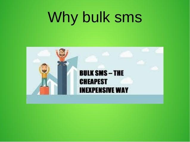 bulk sms monotone Slide 2