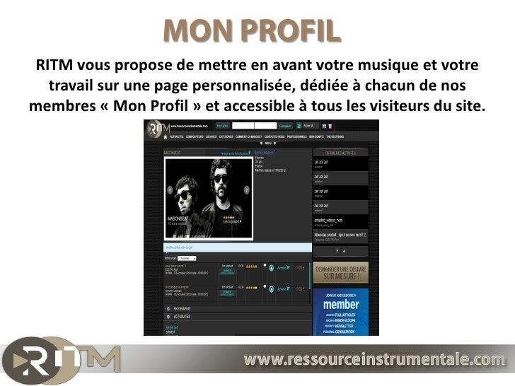RITM vous propose de mettre en avant votre musique et votre  travail sur une page personnalisée, dédiée à chacun de nosmem...