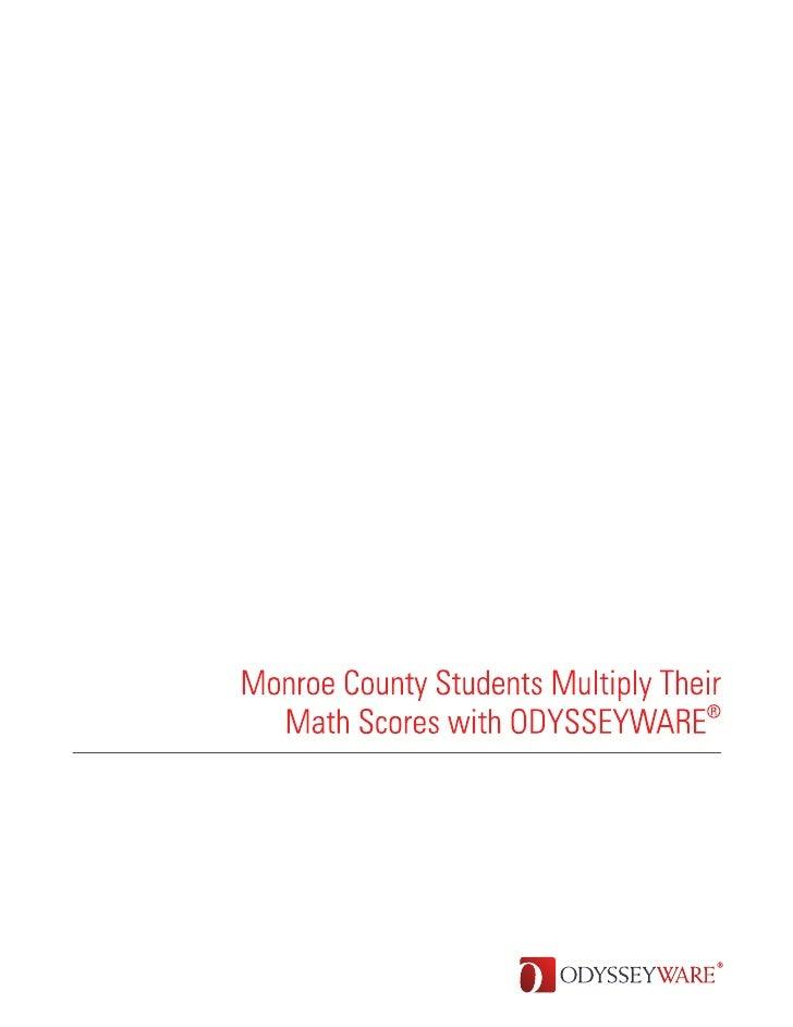Monroe County Achievement Center ODYSSEYWARE Case Study