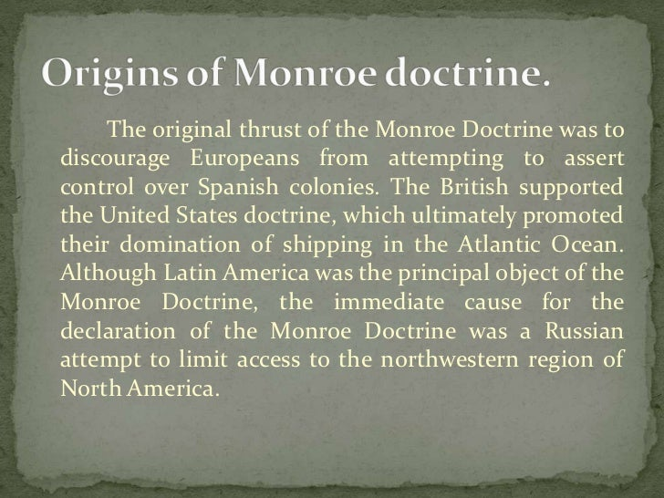 what was the significance of the monroe doctrine