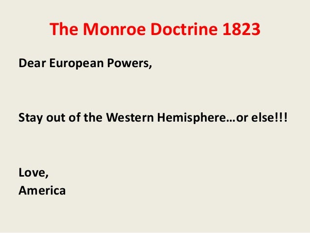 an analysis of the topic of the monroe doctrine in the united states of america Attack on united states of america, it was convinced to abandoned the monroe doctrine theory  for research paper on pearl harbor on a single topic.
