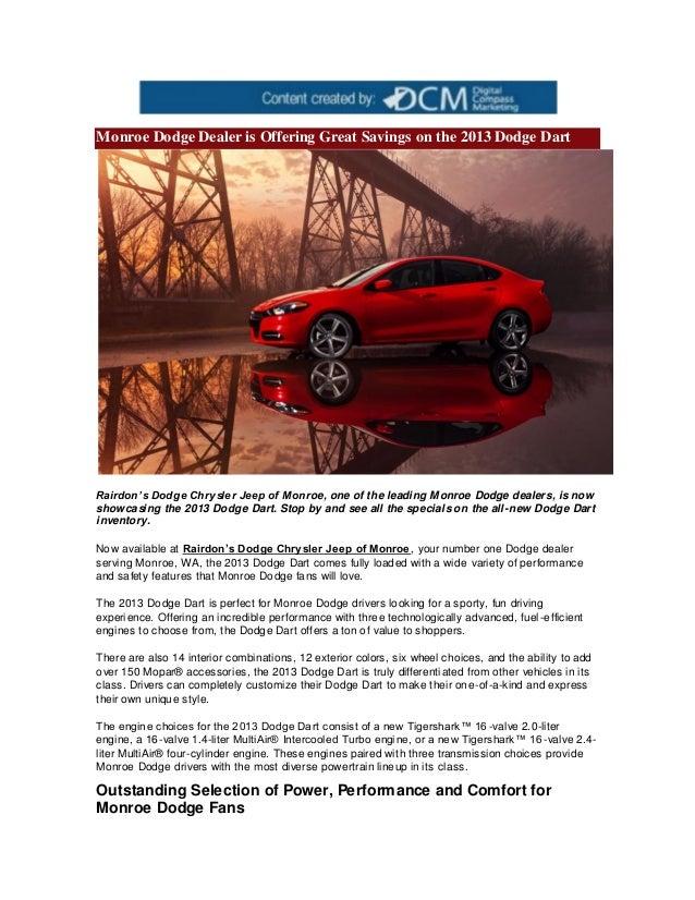 dealership in dealers car dodge chrysler monroe superstore jeep dealer mi