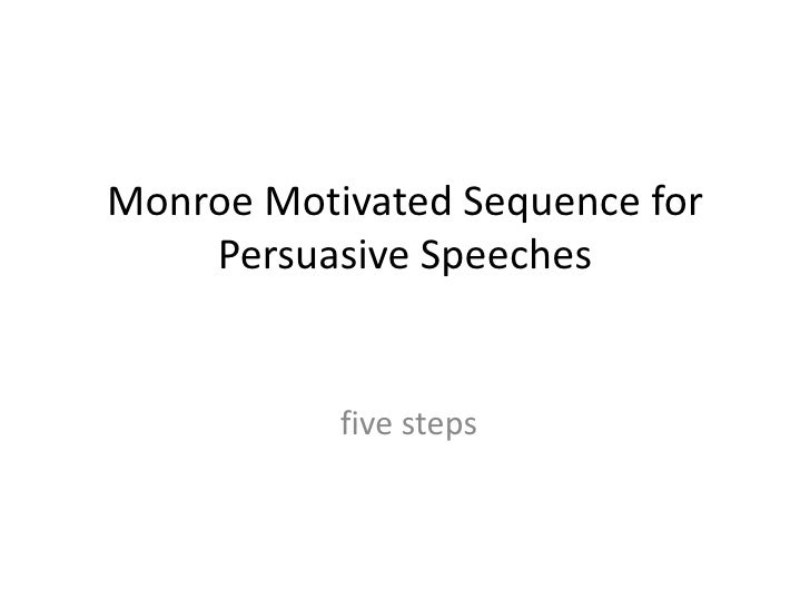 Monroe Motivated Sequence for    Persuasive Speeches           five steps