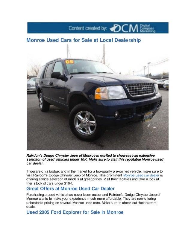 s wa dodge monroe new of in rairdon htm coupons dealer ram chrysler dealership jeep