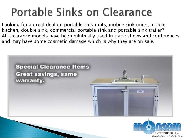 3. Looking for a great deal on portable sink ...