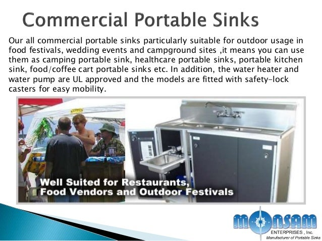 6. Our all commercial portable sinks ...