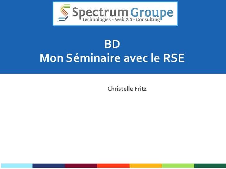 BD Mon Séminaire avec le RSE Christelle Fritz