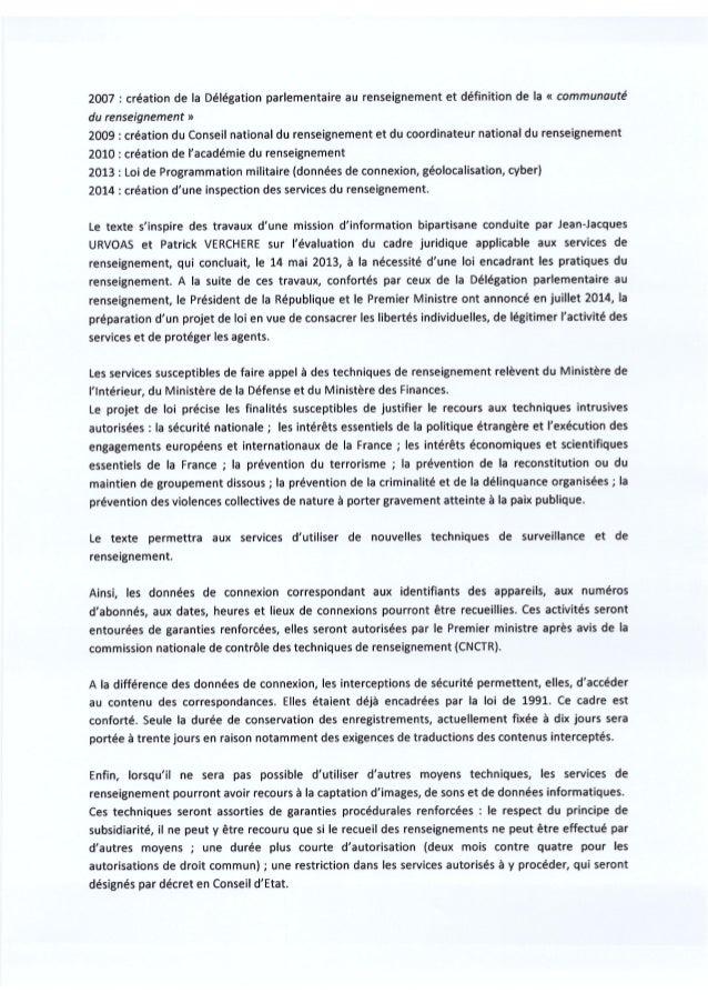 7 avril 2015 : Emeric Bréhier député PS de la 10e circonscription de Seine-et-Marne soutiens le #PJLRenseignement  Slide 2