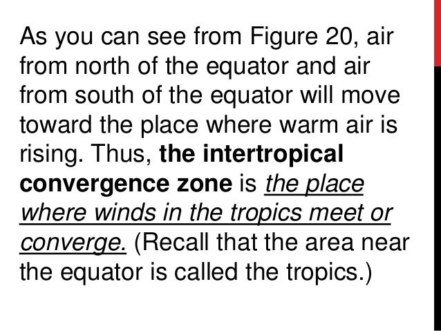 As you can see from Figure 20, airfrom north of the equator and airfrom south of the equator will movetoward the place whe...