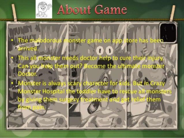 Monster crazy hospital game for kids at google play Slide 2