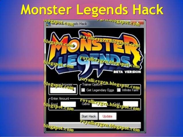monster legends hack online without human verification