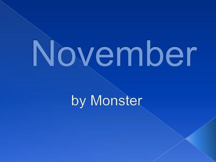 November<br />byMonster<br />