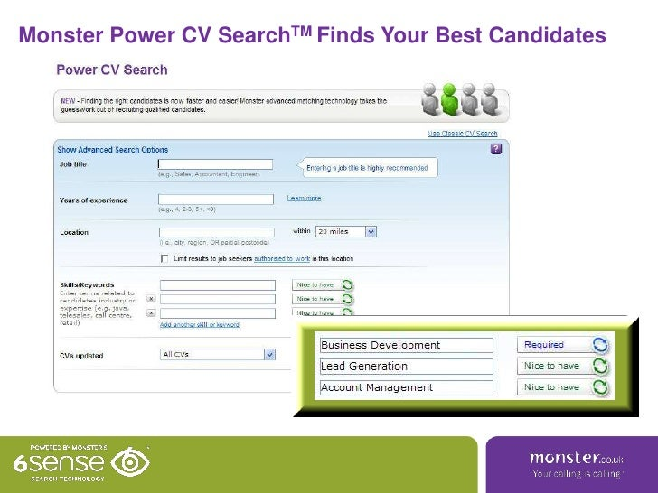Monster Power Cv Search