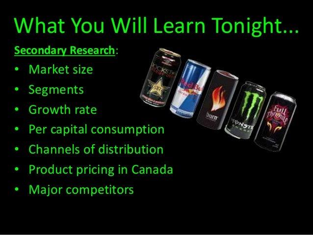 Market segmentation example for drinks